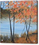 Fall n Lake Acrylic Print