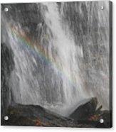 Falls And Rainbow Acrylic Print
