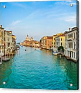 Famous Canal Grande In Venice Acrylic Print