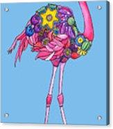 Fancy Felicity Flamingo Acrylic Print