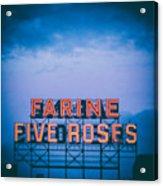 Farine Five Roses Acrylic Print