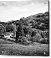 Farmhouse And Surrounding Countryside At Loughrigg Fell And Loughrigg Tarn Near Ambleside Lake Distr Acrylic Print