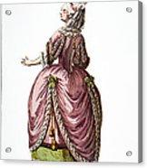 Fashion: French, 1778 Acrylic Print