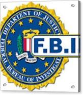Fbi Seal Mockup Acrylic Print