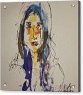 Female Face Study  B Acrylic Print