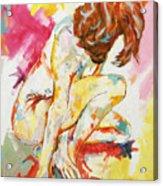 Female Nude Figure Study Acrylic Print