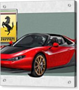 Ferrari Sergio With 3d Badge  Acrylic Print by Serge Averbukh