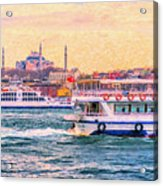 Ferry Traffic On The Bosphorus Acrylic Print