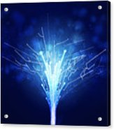 Fiber Optics And Circuit Board Acrylic Print
