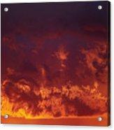 Fiery Clouds Acrylic Print by Michal Boubin