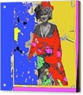 Film Homage Ann-margret Collage Train Robbers 1973 The Great White Hope Globe Arizona 1969 Acrylic Print