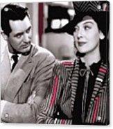 Film Homage Cary Grant Rosalind Russell Howard Hawks His Girl Friday 1940-2008 Acrylic Print