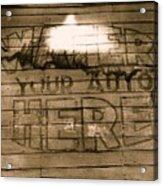 Film Homage Gregg Toland John Ford Henry Fonda The Grapes Of Wrath 2 1940 Ft. Steele Wy 1971-2008 Acrylic Print