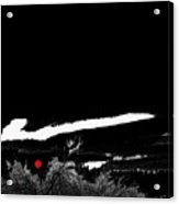 Film Noir Homage Robert Mitchum Blood On The Moon 1948 Rising Moon Casa Grande Arizona 2005-2008 Acrylic Print