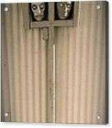 Film Noir Sidney Greenstreet Mask Of Demetrious 1944 Sid Bruce's Sculptures Black Canyon Az 1991 Acrylic Print