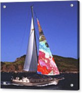 Fine Art Sails Acrylic Print by Dan Cope