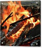 Fire At The Beach IIi Acrylic Print by Mariola Bitner