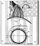 Fireman's Helmet Patent Acrylic Print