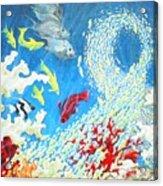 Fish Swarm Acrylic Print