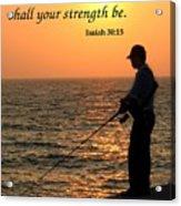 Fisherman And Sunset Acrylic Print
