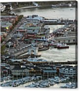 Fisherman's Wharf And Pier 39 Aerial Photo Acrylic Print