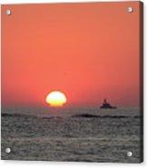 Fishing Boat At Sunrise Acrylic Print