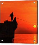 Morning Fishing 1 Acrylic Print