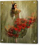 Flamenco In Red Acrylic Print