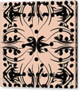 Flora Feline Blush Acrylic Print