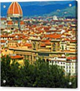 Florence, Italy Panoramic Acrylic Print