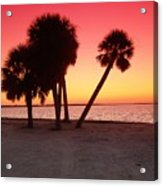Florida Gulf Sunset Acrylic Print