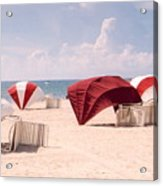 Florida Umbrellas Acrylic Print