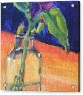Flowers In Glass Vase Acrylic Print