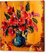 Flowers Modern Abstract Fine Art Canvas Acrylic Print