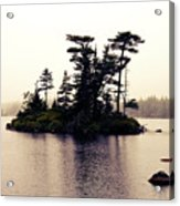Fog Setting In On The Lake Acrylic Print