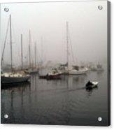 Foggy Camden Harbor Acrylic Print