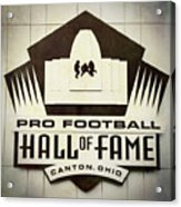 Football Hall Of Fame #1 Acrylic Print