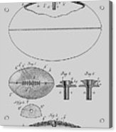Football Patent Drawing From 1903 Acrylic Print
