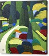 Formal Garden on Canvas Acrylic Print