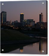 Fort Worth Skyline At Sunset Acrylic Print
