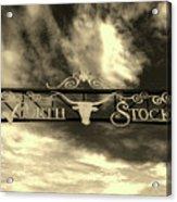 Fort Worth Stockyards District Archway Acrylic Print