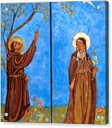 Francis And Claire Triptych Acrylic Print