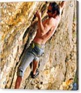 Free Climber Acrylic Print