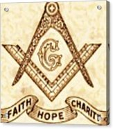 Freemason Symbolism By Pierre Blanchard Acrylic Print