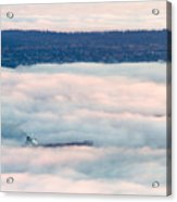 Freighter In The Clouds Acrylic Print