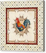 French Country Roosters Quartet Cream 2 Acrylic Print