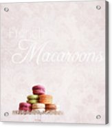 French Macaroons On Dessert Tray Acrylic Print