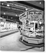 fresh food at the bullring indoor market Birmingham UK Acrylic Print
