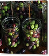 Fresh Harvested Olives And Tunas Acrylic Print