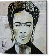 Frida Kahlo Press Acrylic Print